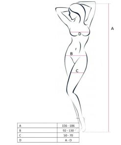 PASSION WOMAN BS051 BODYSTOCKING - VERMELHO