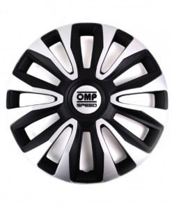 "Tapacubos OMP Magnum Speed Preto Prateado 14"" (4 uds)"