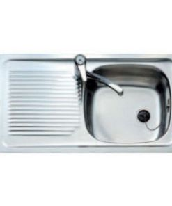 Lava-louça de Uma Cuba com Escorredor Teka E/50 1C1E.REVE 3010 Aço inoxidável