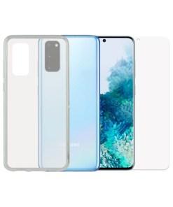 Protetor de vidro temperado para o telemóvel + Estojo para Telemóvel Samsung Galaxy S20 Contact