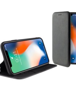 Capa tipo Livro para o Telemóvel Iphone 11 Pro Max KSIX Standing Preto