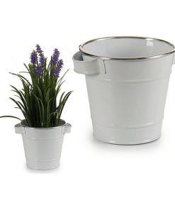 Plantador Metal Com pegas (16,3 x 14,5 x 20 cm)