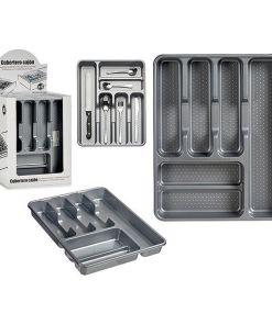 Organizador de Talheres Metálico Plástico (30 x 4,5 x 38 cm)