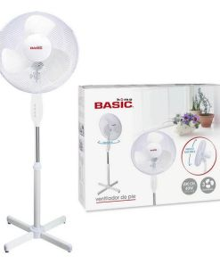 Ventilador de Pé Basic Home 40W 3 velocidades Branco (Ø 40 cm)
