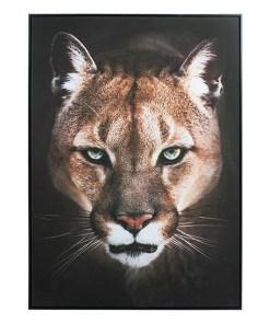 Pintura a Óleo Puma (100 x 4 x 100 cm)