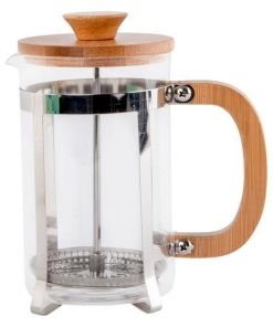 Cafeteira de Êmbolo Dekodonia Bambu Aço Vidro de Borosilicato (600 ml)