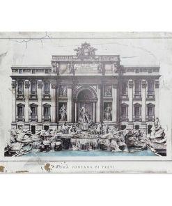Pintura Dekodonia Roma Fontana Di Trevi Madeira Tradicional (80 x 3 x 60 cm)