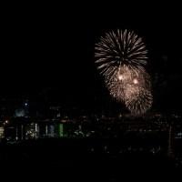 Haldenglühen - das Feuerwerk der Kirmes Crange von Halde Hoheward aus