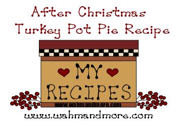 After Christmas Turkey Pot Pie Recipe