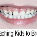 teaching kids to brush