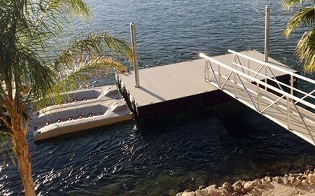 aluminum boat dock layout - platform dock