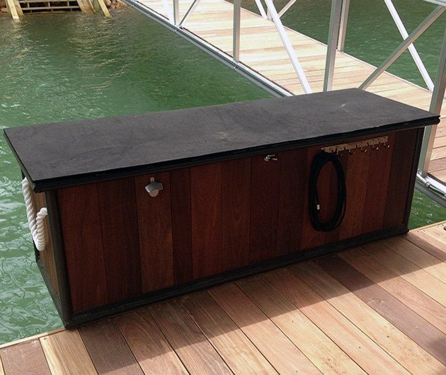 Dock Accessories Finishing Touches ipe dock box