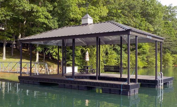 Wahoo Docks Hip Roof with Cupola