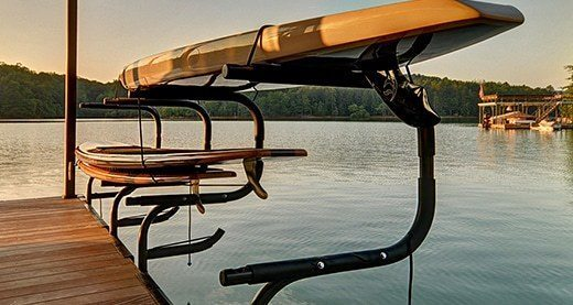aluminum boat dock accessories kayak rack wahoo docks