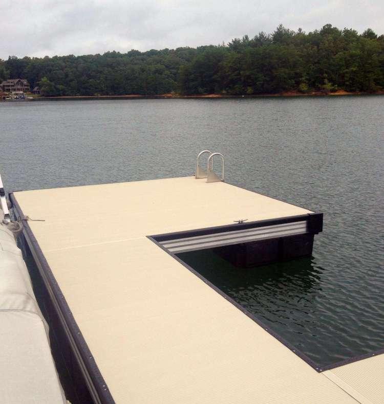 wahoo aluminum docks commercial marine construction floating platform dock with swim platform
