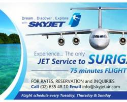 Inaguaral Flight to Surigao by SkyJet
