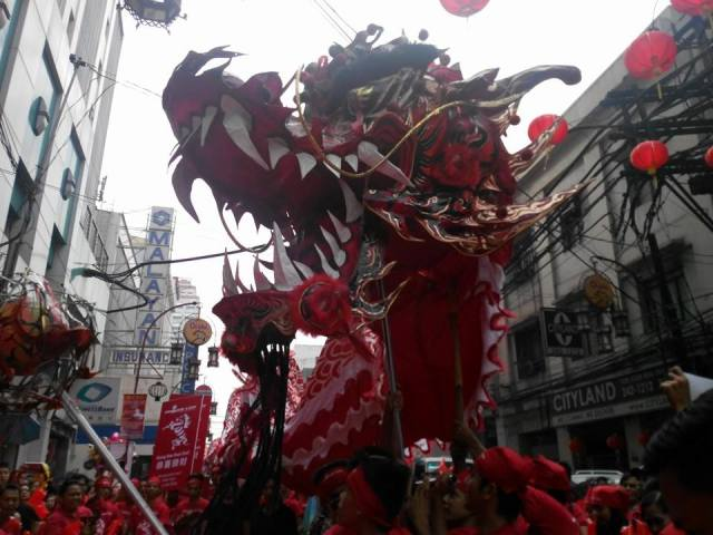 The Mighty Dragon, thought to bring luck, good fortune and prosperity