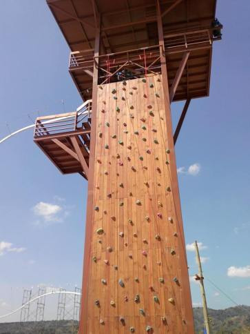 The adventure tower up close