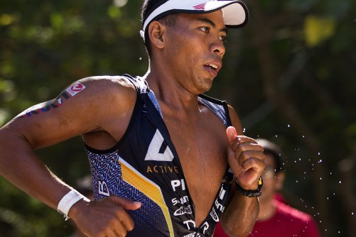 August Benedicto, the Top Philippine triathlete battle it out with fellow Filipino and international racers.