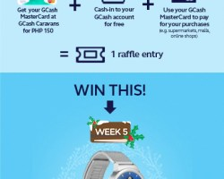 Win a Huawei Watch in the 12 weeks of Christmas Promo from GCash