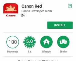 Canon Rewards app for loyal customers