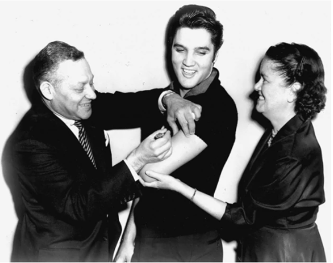 Elvis Presley influencer per la poliomelite