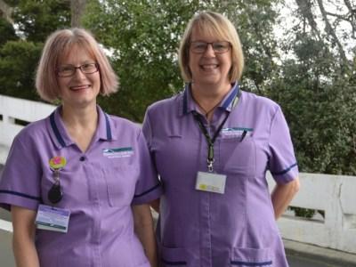 Waikato Hospital midwives Fiona Herman and Dawn McHugh