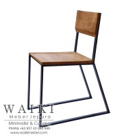 Kursi Cafe Kayu Besi Minimalis Iron Wood Dining Chair ...