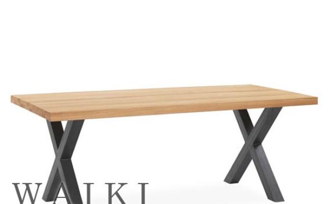 Meja Cafe Kayu Besi X Legs Industrial Iron Wood Rustic