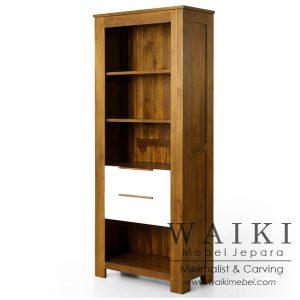 lemari buku jati minimalis modern,Almari Display Mbakyu model minimalis modern kontemporer kualitas ekspor