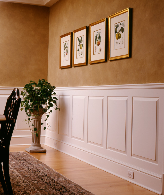 Wainscoting In Dining Room: Raised And Recessed Panel Wainscoting
