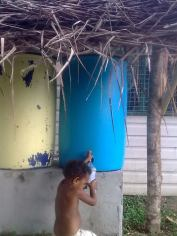 Filtered water project of the village health worker together with AUSAID