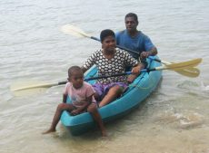 Kayaking Joe Teresa and passenger HS