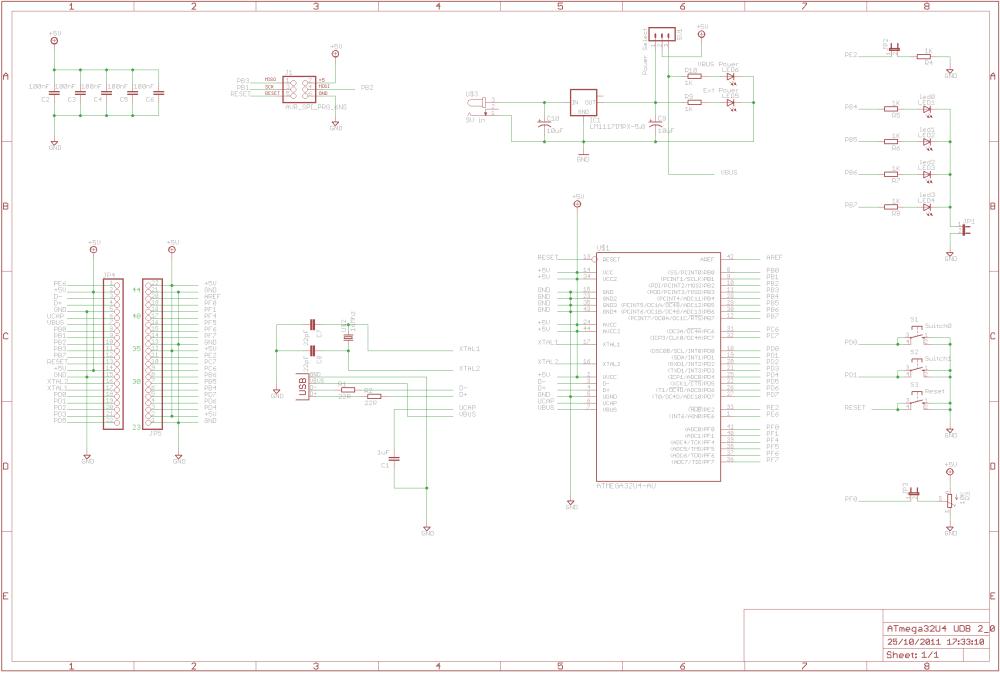 medium resolution of building the atmega32u4 usb development board