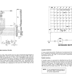 c64 keyboard and cia schematic from the c64 service manual [ 1529 x 989 Pixel ]