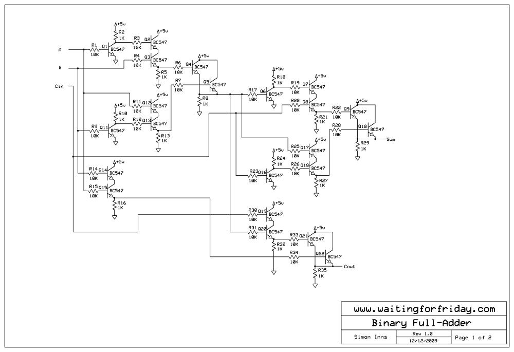 medium resolution of full adder circuit schematic
