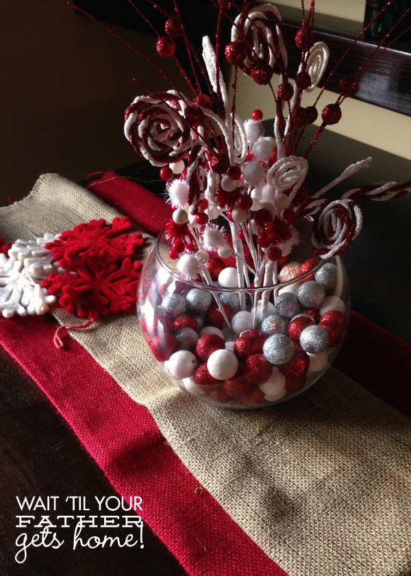 Christmas Candy Centerpieces