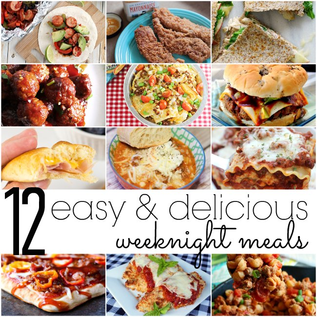 12 Easy & Delicious Weeknight Meals via #MondayFundayParty