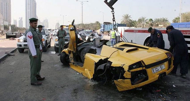 After moving to Dubai, you'll get used to similar super cars accidents