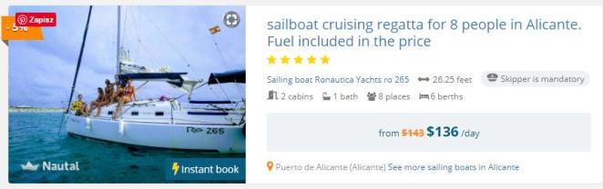 Alicante, Hiszpania - łódź do wynajęcia dla rodziny z cenami rejsu