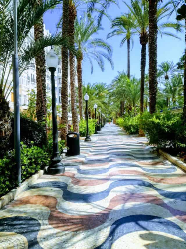 Alicante, Hiszpania promenada Explanada de España