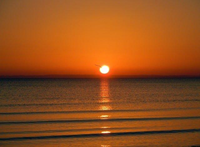 Alicante, Hiszpania wschód słońca