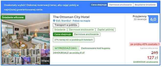 Hotel w Stambule znaleziony w serwisie Agoda