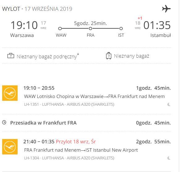 Wylot z Warszawy do Stambułu