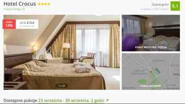 Hotel Crocus Zakopane wrzesień 2019