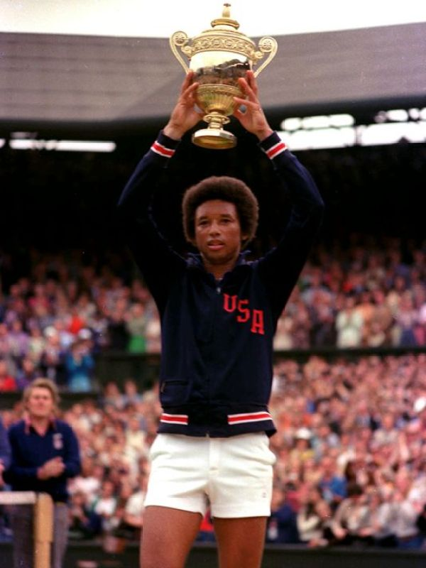 Arthur Ashe was the first black player selected to the United States Davis Cup team and the only black man ever to win the singles title at Wimbledon, the US Open, or the Australian Open.