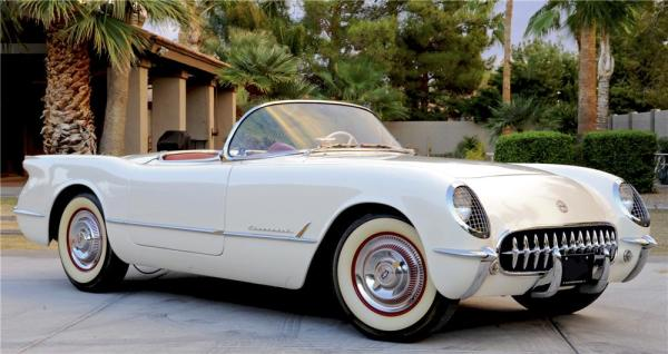 This rare 1953 Corvette has VIN 243. It has won numerous awards including the Triple Crown Award, Bloomington Gold Award, NCRS Chapter Top Flight Award in 2000 and the Gold Spinner Award. This car is one of the highest point cars ever judged. This car is very unique in that a 2003 50th Anniversary Corvette was manufactured with a matching VIN and matching colors.