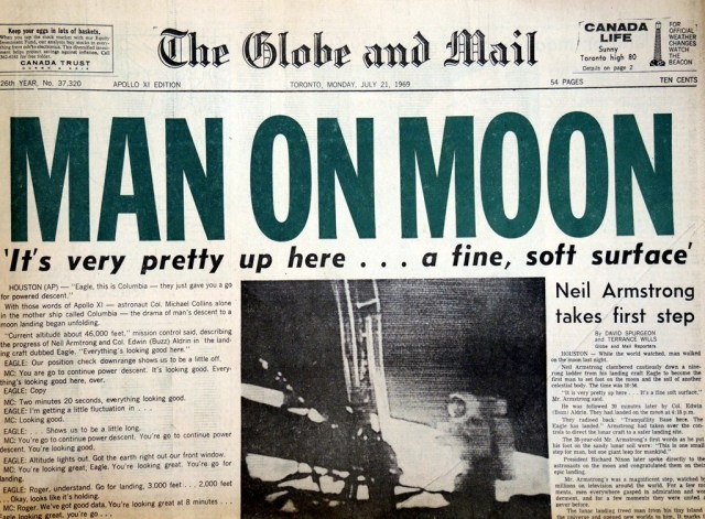 """On 21st July 1969 Neil Armstrong became the first man to walk on the Moon - as he put his left foot down he declared: """"That's one small step for man, one giant leap for mankind."""""""