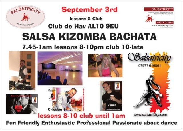 Salsatricity at Club De Havilland in Hatfield AL10 9EU