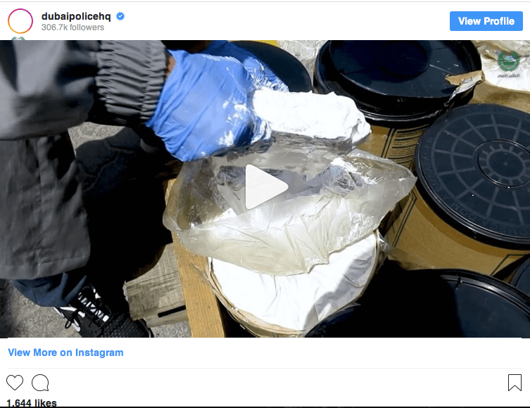 Are They Mad Shipping Narcotics Through Dubai !